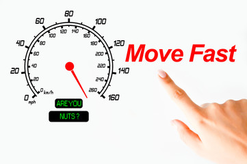 Moving fast concept