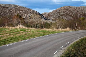 Turning asphalt road
