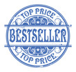 Grunge rubber stamp with the word Bestseller