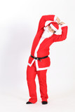 Funny Santa isolated over white background