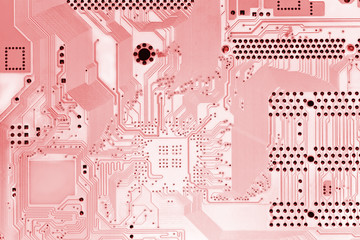 Light-red circuit board.