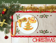 Cowboy Christmas card with cookies and holiday decorations