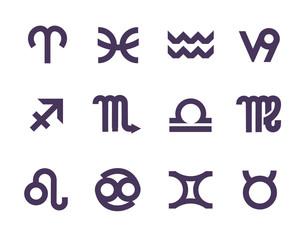 Zodiac symbols. Vector format