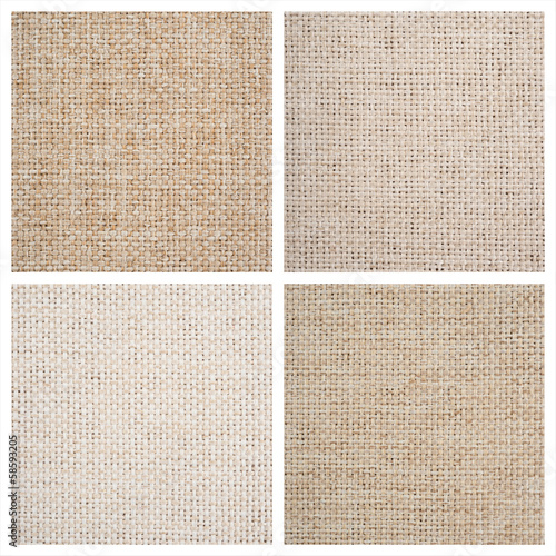 Set from four textile backgrounds