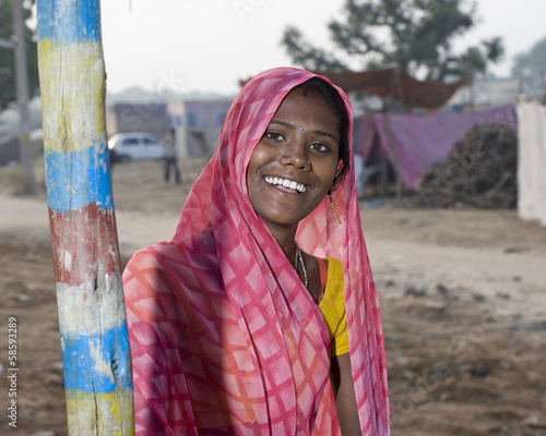 young woman , Rajasthan, rural India