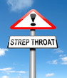 Strep Throat concept.