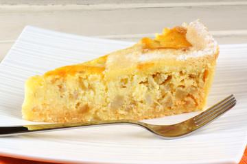 Slice of Neapolitan Pastiera tart