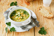 fresh potato soup with chickpeas