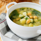 potato soup with chickpeas