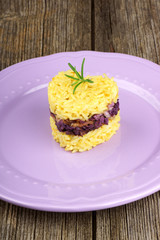 Heart shaped saffron rice