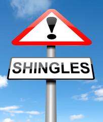 Shingles concept.