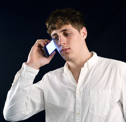 young Man on the Cell Phone