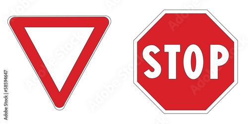 Dare precedenza + Stop