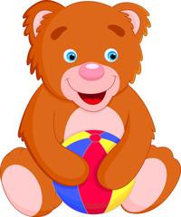 bear and ball cartoon