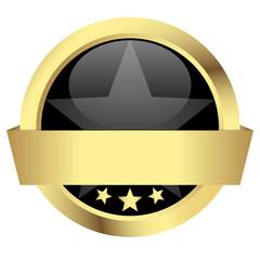 Button GOLD mit Banner - VORLAGE