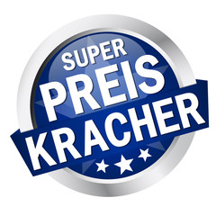 "Button mit Banner "" SUPERPREISKRACHER """