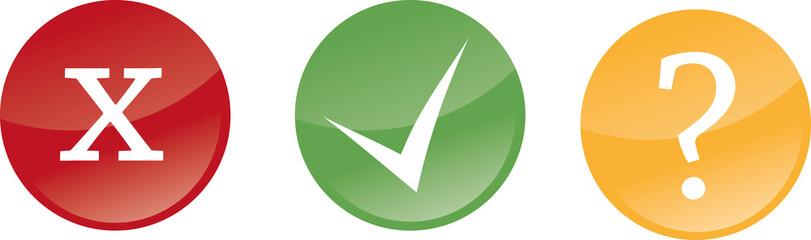 Button Prüfung geprüft ungeprüft Status