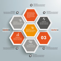 Hexagon Business Infographic 7 Options