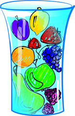 Fruit glass