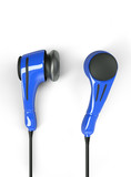 polycarbonate headphones, blue colored