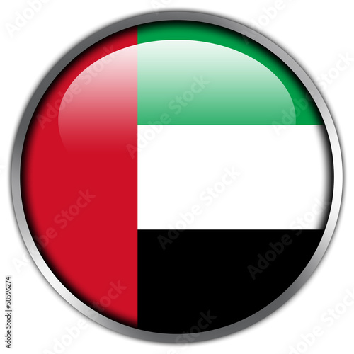 United Arab Emirates Flag glossy button