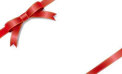 The red ribbon of a golden border pattern