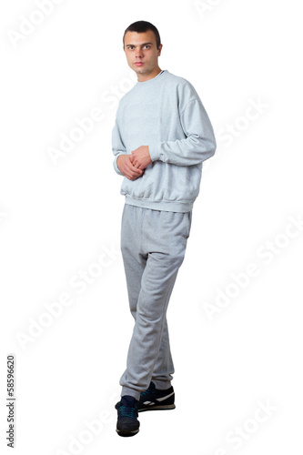 a young man in a tracksuit