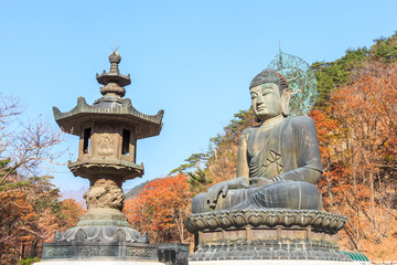 statue of buddha at shinheungsa temple