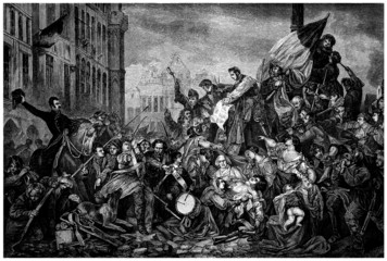 "Street Battle : ""Barricades"" - 19th century (1830)"