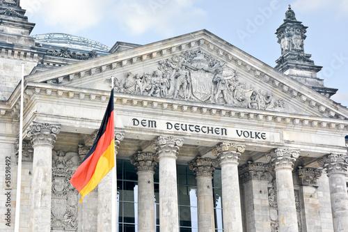 Fotobehang Berlijn Bundestag in Berlin