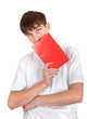 Man with Red Book