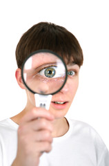 Teenager with a Loupe