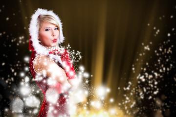 Weihnachtsfrau mit Sternchen