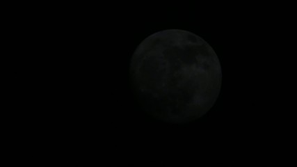 Moon on the night the dark sky (Time Lapse). FULL HD
