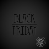Black Friday Sale, dark background, label, poster