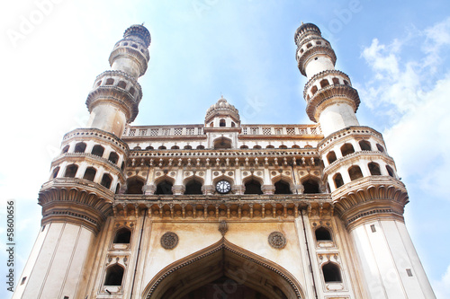 Poster Charminar, historic monument in Hyderabad India