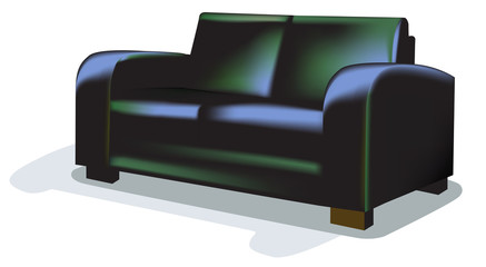 Dark Sofa over white backgrund