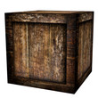 old wood case (isolated with clipping path)