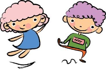 Симпатичные карикатуры дети