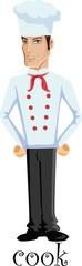 Мультипликационный персонаж - готовить