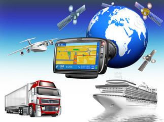 GPS-Navigation,  Global - System