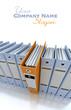 Filing and organizing information blue