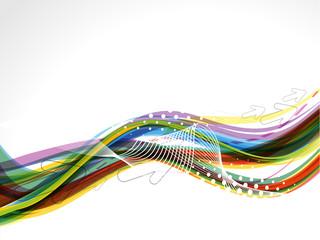 Colorful Wave Background Grunge