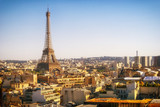 Fototapety Eiffel Tower, Paris, panoramic view from Triumphal Arch