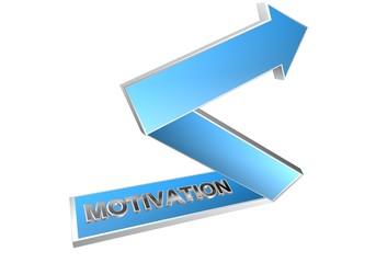 motivation fleche bleue 3D