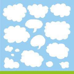 雲のデザイン素材