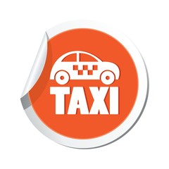 Taxi icon. Vector illustration