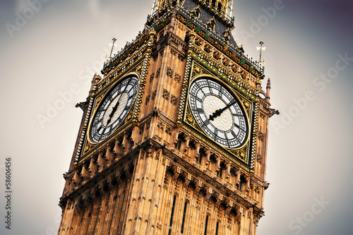 Big Ben, the bell of the clock close up. London, England - 58606456