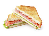 toasted sandwich with ham, cheese and vegetables - 58606868
