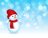 Holiday Christmas Snowman background